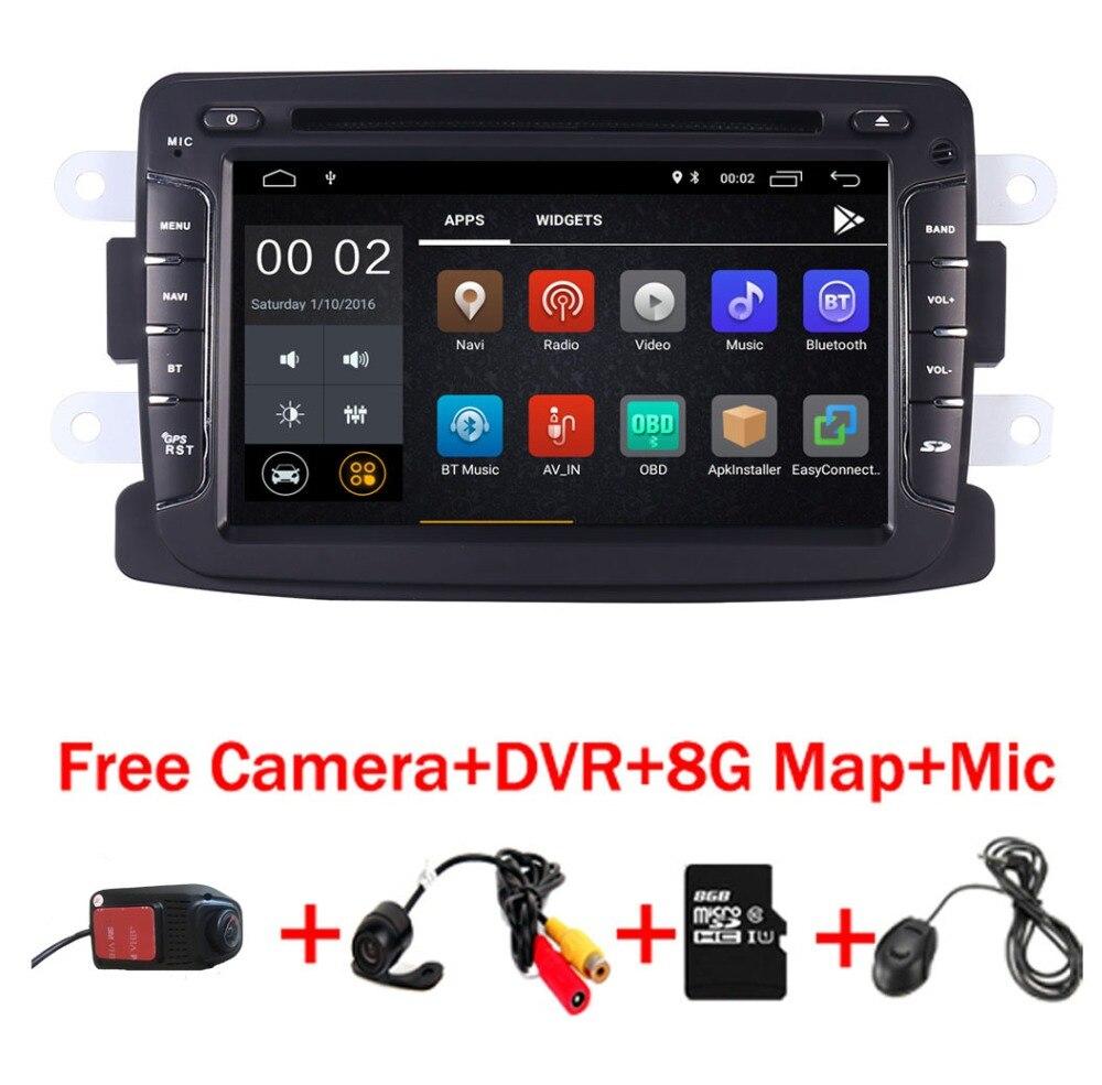 2din Android 8.1 Lecteur DVD de Voiture Pour Renault Duster Dacia Sandero Capture Lada Xray 2 Logan 2 RAM 3g WIFI GPS Navigation Radio