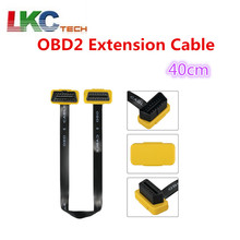 2018 Original AUTOOL 40CM OBD2 Extension Cable  16Pin Male to Female Extension Flat Cable Cord Adapter