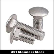 M8 M8*12/16/20/25 M8x12/16/20/25 304 Stainless Steel SS DIN603 Full Thread Shelf Mushroom Square Head Neck Bolt Carriage Screw