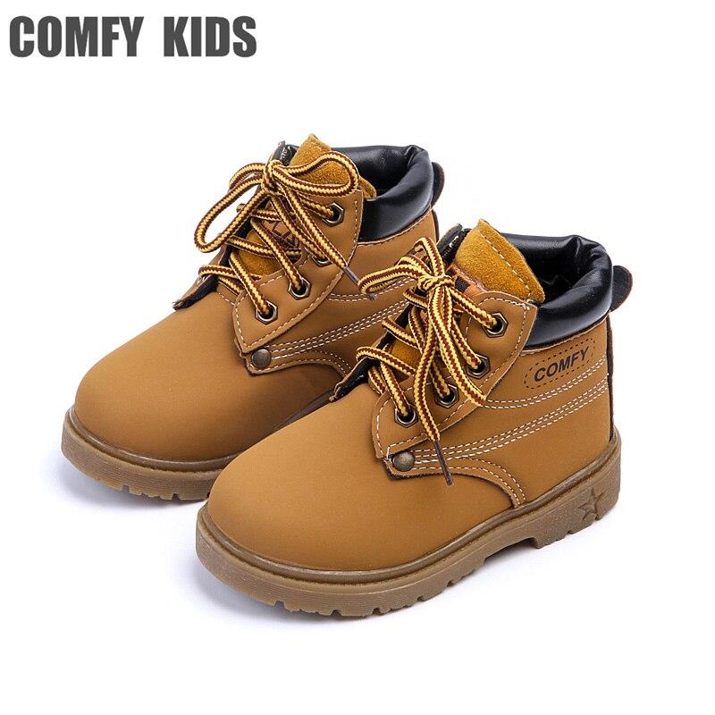 Mode Neue Kind Schnee Stiefel Schuhe Jungen Mädchen Leder Stiefel Kinder Kinder Baby Kleinkinder Schuhe Für Jungen Mädchen Turnschuhe Schuh