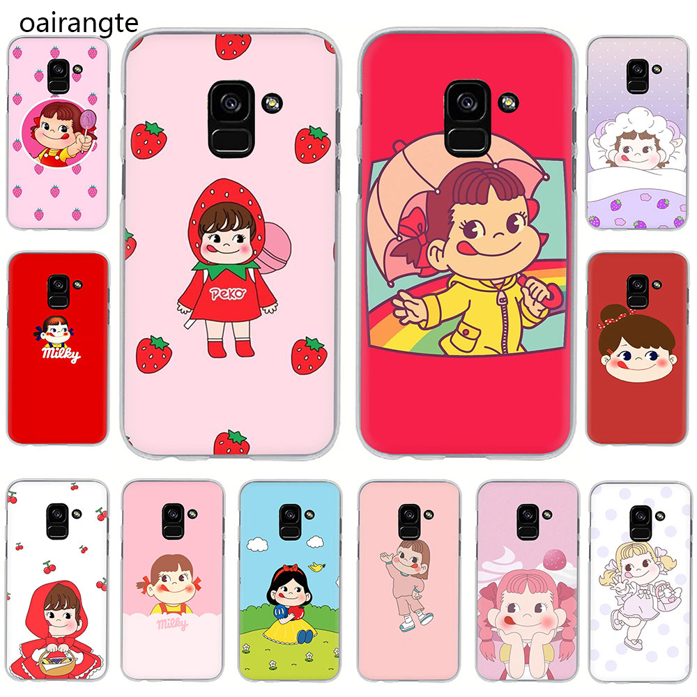 Fujiya Milky Peko chan Hard phone cover <font><b>case</b></font> for <font><b>Samsung</b></font> Galaxy A3 5 2017 A6 7 8 9 2018 A10 30 40 50 <font><b>70</b></font> image