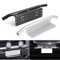 Black Silver Car Bull Bar Front Bumper License Plate Mount Bracket Holder Offroad Light Bar