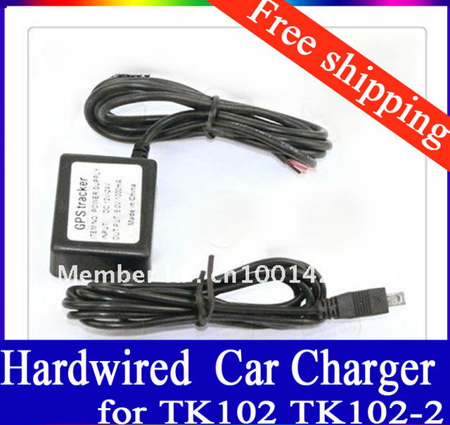 GPS Tracker Hardwired Powerline Car Charger Adaptor for TK102 TK102-2 Micro Mini USB