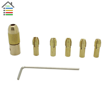 New 0.5-3mm Small Electric Bit Brass Collet Micro Replaceable Twist Drill Chuck Set Power Rotary Tools Accessories Parts Tool