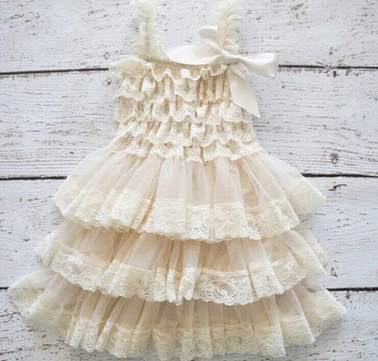 Wholesale Girl Dress Lace Chiffon Layered Slip Dress Girl TUTU Dress 0 8Y 0321 Not Have
