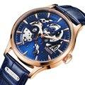 Люксовый бренд Switzerland Nesun  мужские часы с скелетом  автоматические самокручивающиеся мужские часы с сапфировым кристаллом  водонепроницаем...