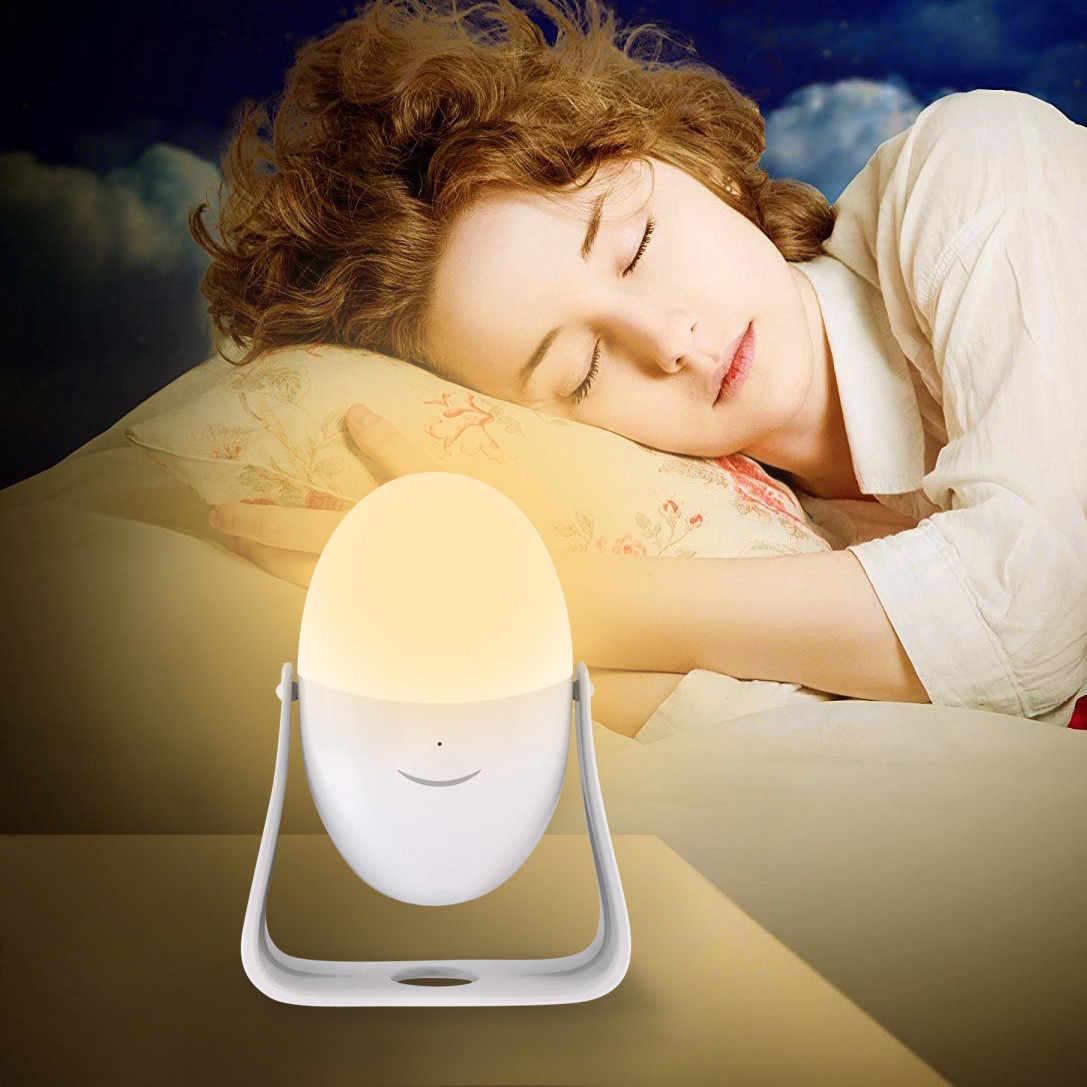 360 градусов вращение светодиодный Ночная переносная лампа ручка ночник ручной коленчатый красочный детский ночник