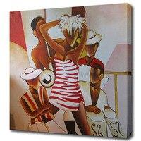 Streszczenie hot tancerz obraz olejny teksturowane płótnie malarstwo dla salon dekoracje ścienne wall art prezent dla przyjaciół