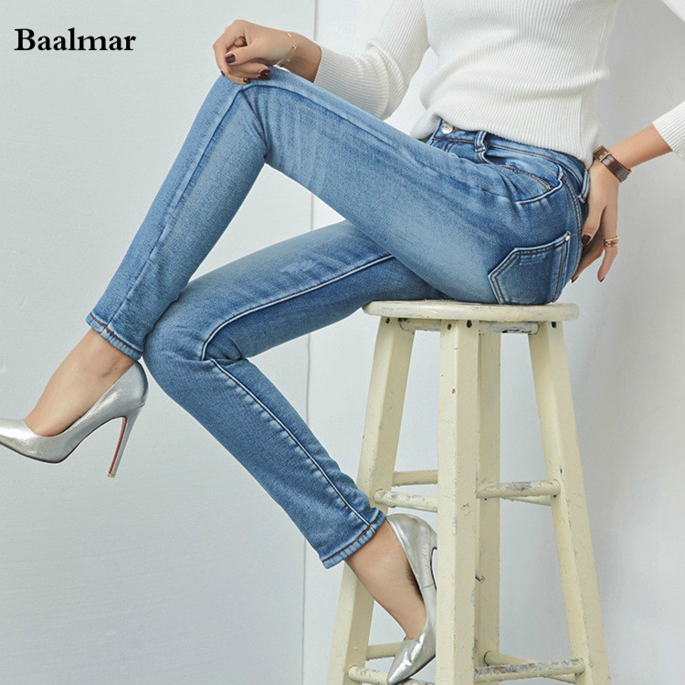 Spring Mid Waist Jeans Full Length Trousers Elastic Skinny Jeans Female Pencil Pants Woman Jeans Women Slim Fashion Denim Black hot sale skinny jeans woman spring new pencil jeans for women fashion slim blue jeans mid waist women s denim pants trousers