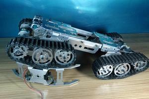 Image 3 - Alaşımlı Tank Şasi Traktör Paletli Akıllı Robot Araba Engellerden Kaçınma barrowland diy rc oyuncak uzaktan kumanda