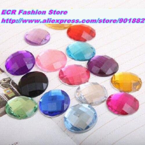 16mm 220pcs/pack11colors Mixed Round Acrylic RhinestonesTAIWAN Acrylic crystal Flat Back RhinestonesJewelry accessories