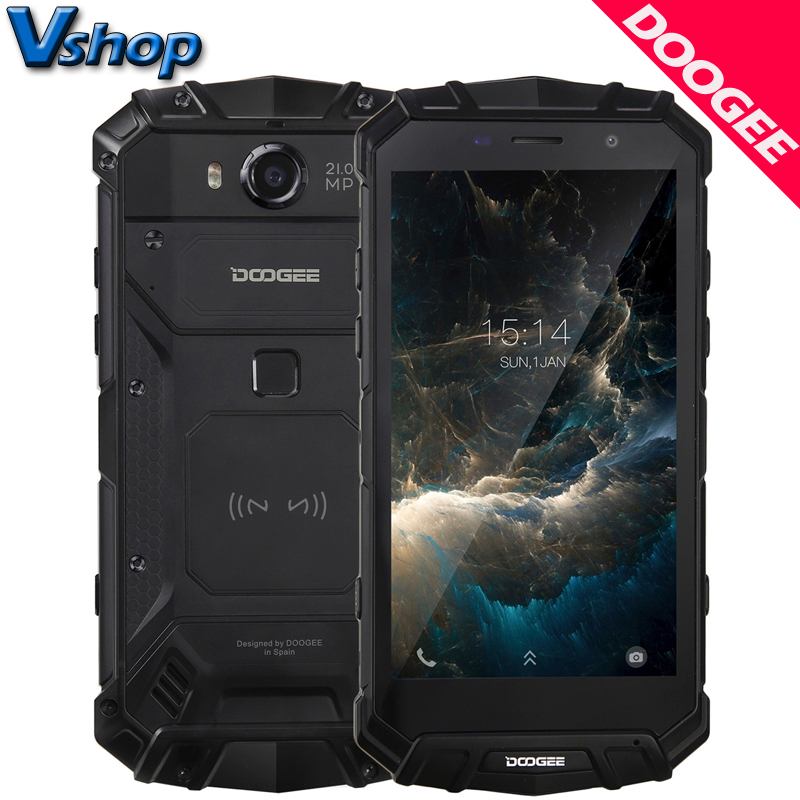 """DOOGEE S60 iP68 4G Mobile Phones Android 7.0 6GB RAM 64GB ROM Octa Core Smartphone 1080P Wireless Charging 5.2"""" NFC Cell Phone"""