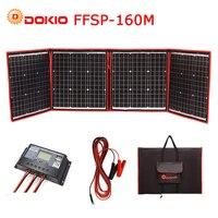 Dokio 160 Вт 18 В черный Панели солнечные s только Китай складной + 12/24 В вольт контроллер портативный 160 вт Панель s Панели солнечные заряда батаре