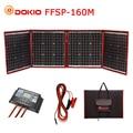Dokio 160 W 18 V Schwarz Solar Panels nur China Faltbare + 12/24 V Volt Controller tragbare 160 watt Panels Solar panel batterie ladung