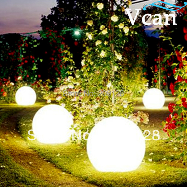 ФОТО 35cm Outdoor Indoor Home PE Plastic LED Table Lamp ball