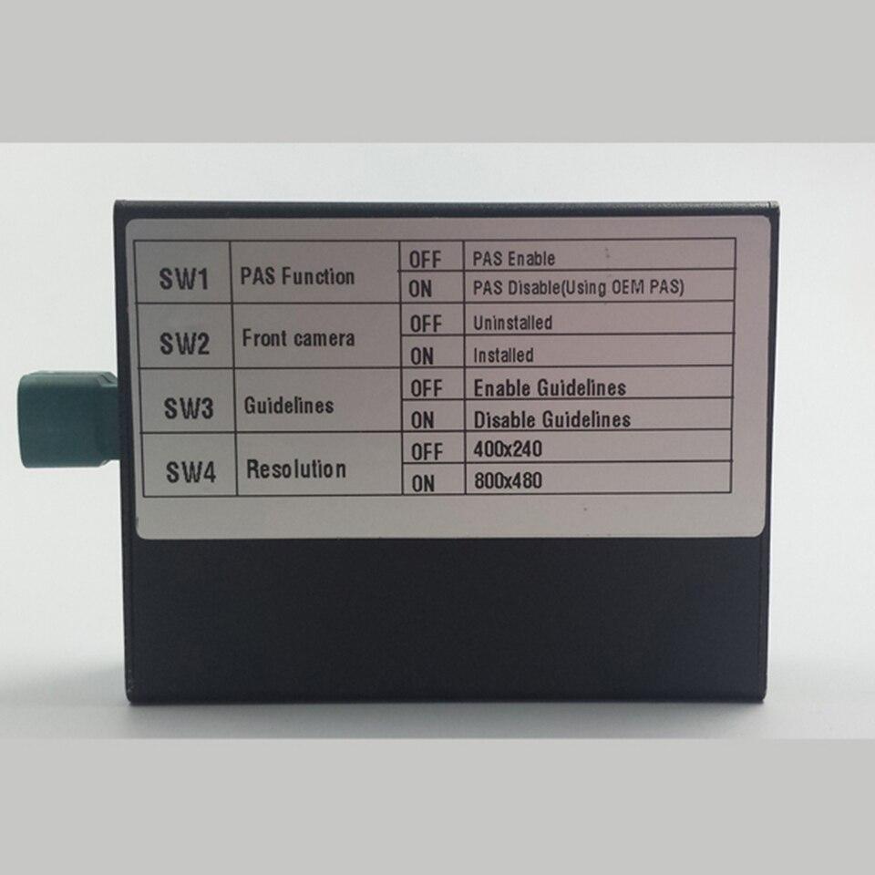 Modo de Interface de Backup Câmera de Visão Traseira do veículo DVR Vídeo Intergration Port Adapter Changer Para Mercedes E250 Orientações Estacionamento - 2