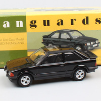kid's 1:43 Scale small Corgi Vanguards Ford Escort MkIII XR3 diecast vehicle auto cars model toys black for adult collector gift