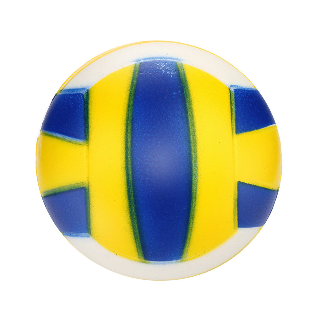 2018 Toy Kids 9cm Rubber Volleyball Beach Ball Holiday Party Swimming Boys Girls Children Fun Slow Rising Games Toys