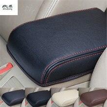 Бесплатная доставка высокого качества 1 шт. для 2015-2018 SKODA Octavia A7 Искусственная кожа автомобильные аксессуары подлокотник коробка Защитная крышка