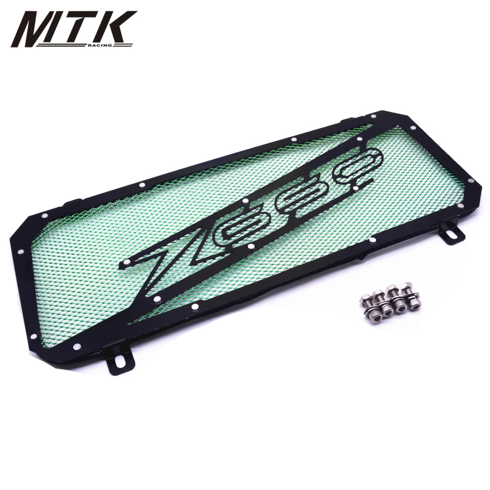 MTKRACING Motorcycle For Kawasaki Z650 2017 stainless steel Radiator Grille Guard Cover Protector Z 650 black motorcycle accessories radiator guard protector grille grill cover for kawasaki z650 z 650