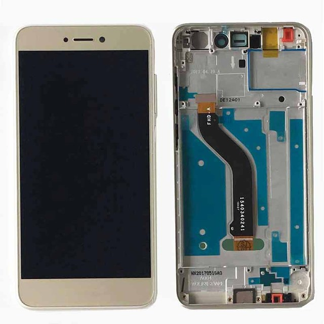 Gold LCD Display Touch Screen Digitizer Assembly+Frame For Huawei P8 Lite 2017 PRA-LX1