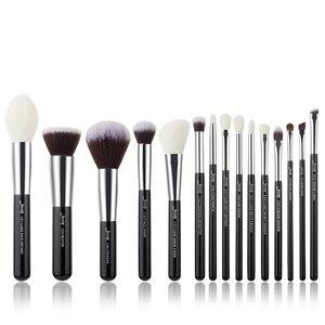Image 3 - Jessup Brushes 15pcs Black/Silver Makeup Brushes Set Makeup Brush Tools kit Foundation Powder Definer Shader Liner T180