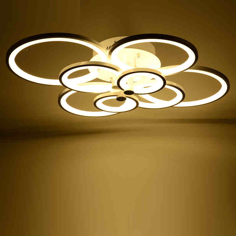 Creative fashion LED ceiling lamp living room bedroom round dining room study lamp simple modern lighting lamps Acrylic lamps restaurants led bedroom lamp hall chandelier simple rectangular bar dining room lighting creative meals lamps
