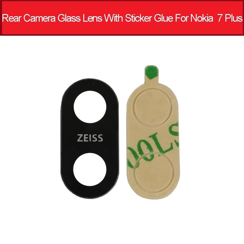 Back Camera Glass Lens For Nokia 7 PLUS 7PLUS TA-1046 TA-1055 TA-1062 7+ 6 In Rear Camera Glass Lens Cover +Adhesive Replacement