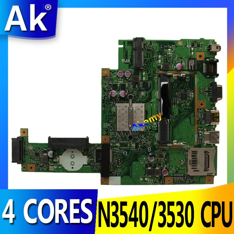 AK For ASUS X453MA X403M F453M Laptop Motherboard X453MA N3540/3530 CPU 4 CORES Mainboard Test Good