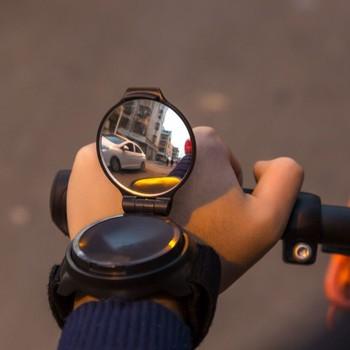Rower lustro rowerowe tylne lustro kolarstwo 360 stopni obrót MTB Arm pasek na rękę widok z tyłu akcesoria rowerowe lusterko wsteczne do roweru tanie i dobre opinie TOSCOCO TOSCOCO-Mirror-01