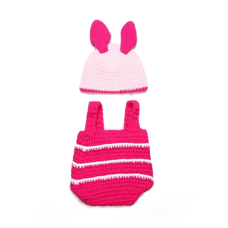 Cute Rabbit Hat Bebe Handmade Newborn Crochet Outfits Baby ...