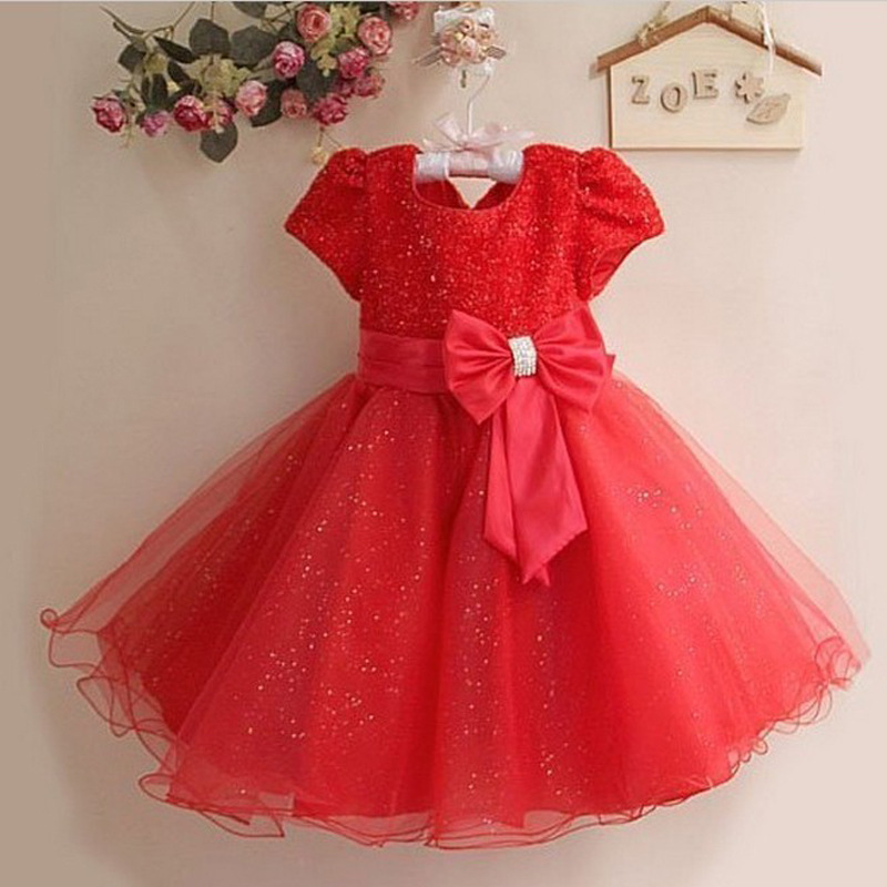 c18632b50e75 Hot Sale 2015 New Summer Girls Dress Retail Kids Cotton Large Bow Dresses  Nice Children Sequin Dress for Girl 6 Colours 1pcs lot-in Dresses from  Mother ...