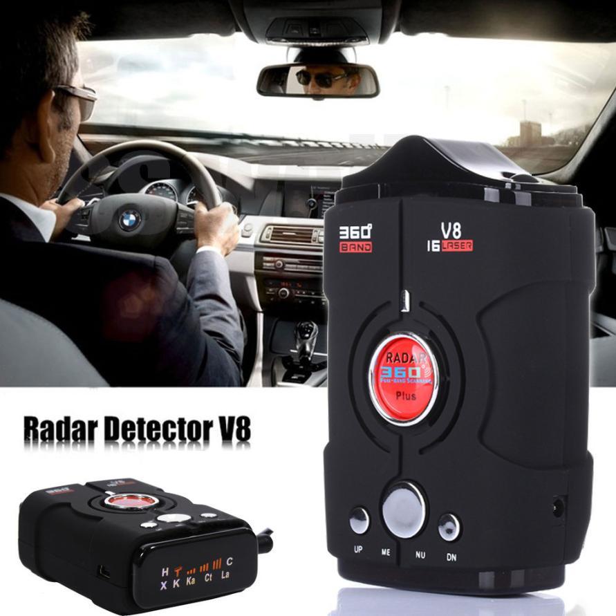 OMESHIN V8 360 degree 16 Band Scanning LED Radar Detector Car Speed Testing System