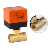 220V Electric Ball Valve Actuator Brass Waterproof Motorized Cold Hot Water Vapor CLH@8