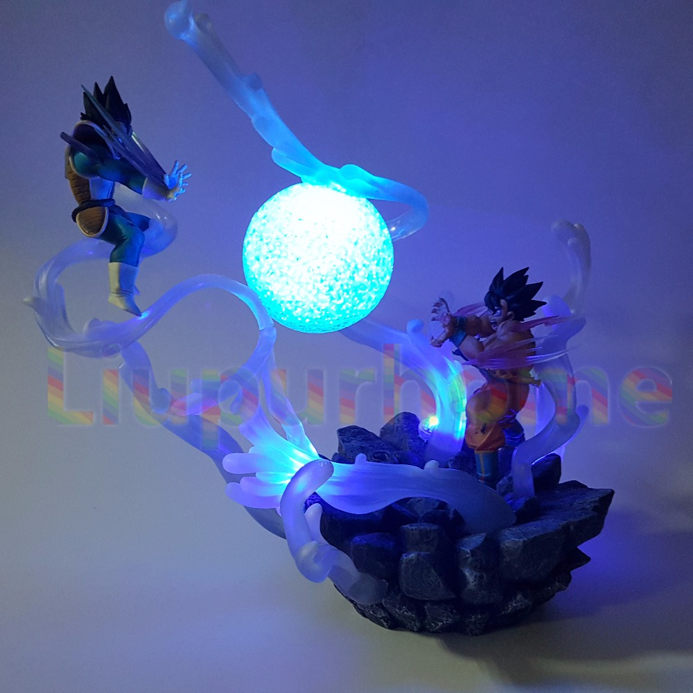 Dragon Ball Z Son Goku VS Vegeta Led Night Lights Super Saiyan DIY Led Scene Anime Dragon Ball Z DBZ Led Table Lamp прихожие купе купить в днепропетровске цена