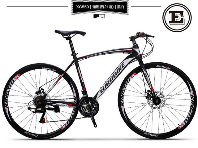 EUROBIKE 21 speed racing bike 700C*49cm bike steel frame bicycle ...