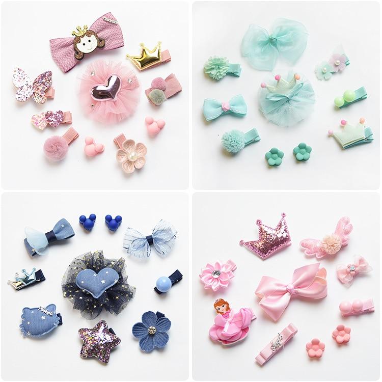 Fashion Children Headwear Bowknot All kinds Of Cartoon And Crown Hair Clips Hair Accessories Barrettes Scrunchies For Cute Baby