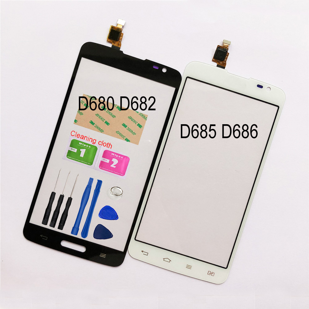 5.5'' Touch For LG G Pro Lite D680 D682 Dual D686 D685 Touch Screen Digitizer Sensor Touch Glass Lens Panel Replacement