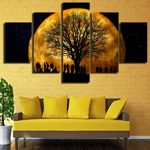 Canvas Art Painting For Home Living Room Decor Frame Wall Art HD ...