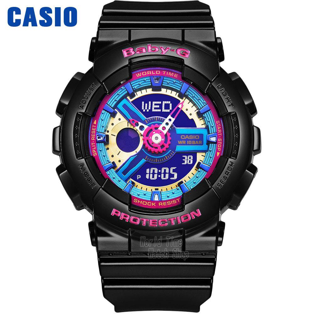 Casio watch Casual fashion sports waterproof double significant female table BA-112-1A BA-112-4A BA-112-7A casio watch sweet fashion sports female student watch lx 500h 1b 1e 4e 7b2