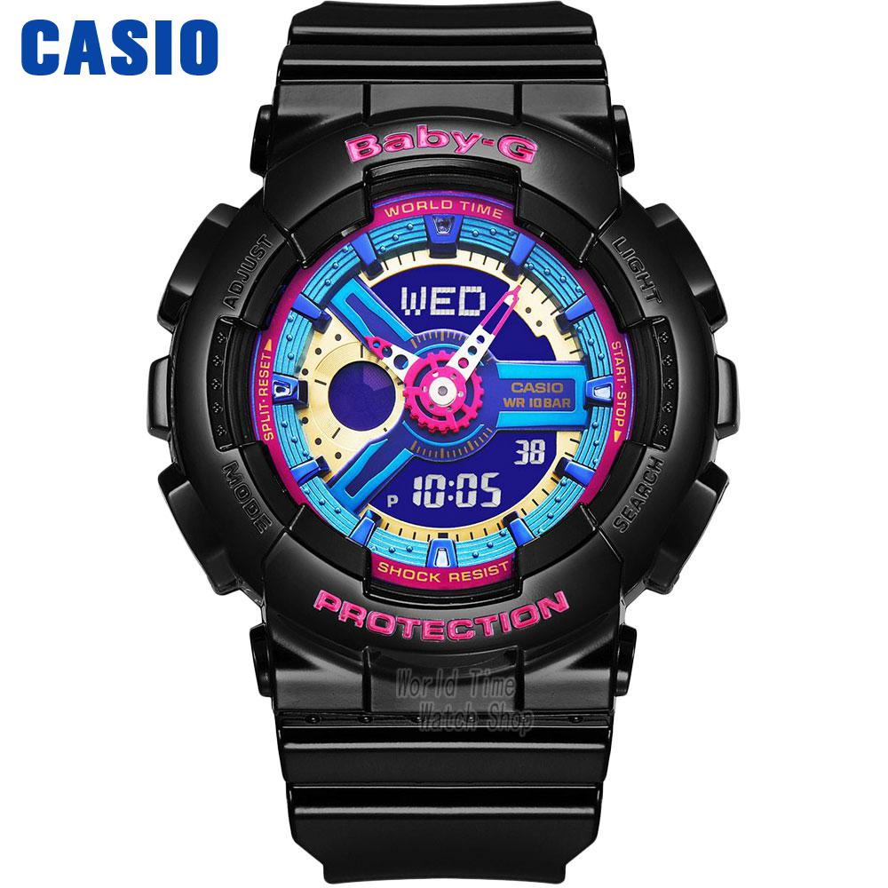 Casio watch Casual fashion sports waterproof double significant female table BA-112-1A BA-112-7A casio ba 125 7a