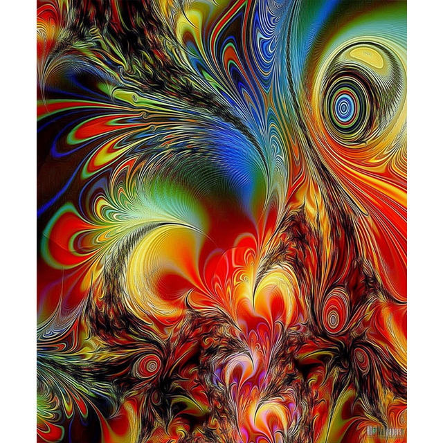 DIY 5D Full Diamond Embroidery abstract  Mosaic Phoenix Picture Round  Painting Cross Stitch Kits