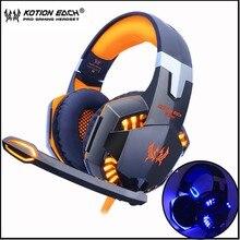 KOTION каждый Gaming Headset игра наушники глубокий бас стерео наушники с светодиодный свет микрофон для портативных ПК PS4 Xbox
