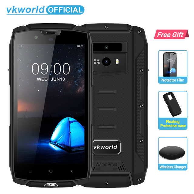 "vkworld VK7000 IP68 Waterproof Smartphone 5.2"" In-Cell MTK6750T Octa Core Android 8.0 5600mAh Fast Charge 5V/2A 4GB RAM 64GB ROM"