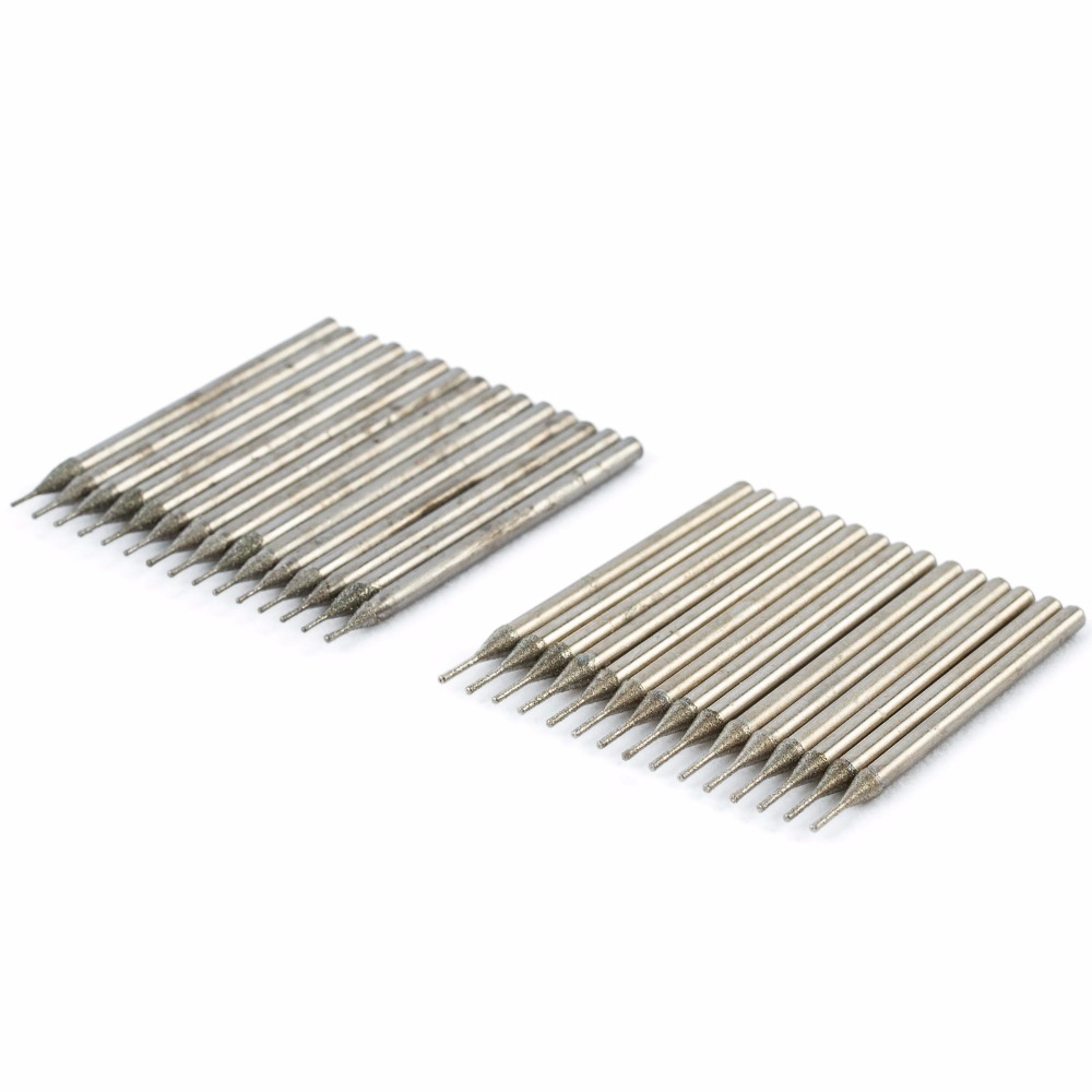 30 Pcs Diamètre 0.5mm / 0.8mm Galvanoplastie Diamant Enduit Scie - Foret - Photo 5
