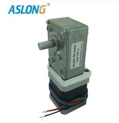 цена на A58SW-42BY 4-wire Single output shaft Stepping gear motor Worm gear Stepping gear motor 12V 24V