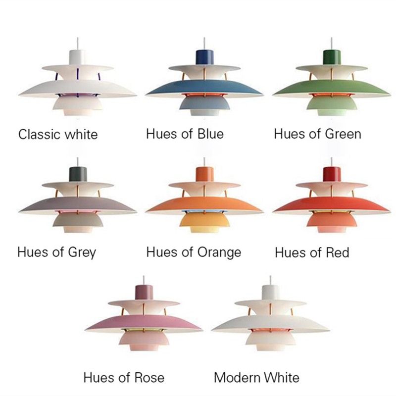Nordic Lustre Colorful PH5 Led Pendant Lights Deco Lamparas For Dining Room E27 Led Pendant Light Hanging Lamp Suspend Lamp