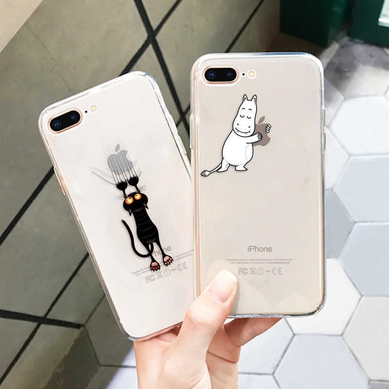 おかしい漫画の携帯電話ケース iphone xs xs 最大 xr かわいい猫パターンソフトシリコンケース iphone × 8 7 6 s プラス 11 プロ 5 5 s 、 se 11
