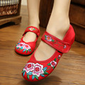 2015 Spring Summer Design Women Shoes Old Peking Flowers Design Flat Heel with Embroidery Soft Sole Casual Shoes Summer Shoes