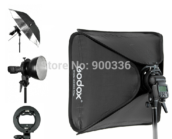 Godox 80x80cm Softbox + S-Type Bracket Bowens Holder+ Bag Kit for Camera Flash free shipping 100% tested 660203 001 board for hp 17 laptop motherboard with for intel chipset